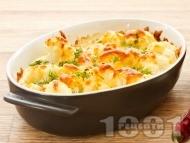 Вкусен огретен от карфиол на фурна с яйца, сирене и кашкавал